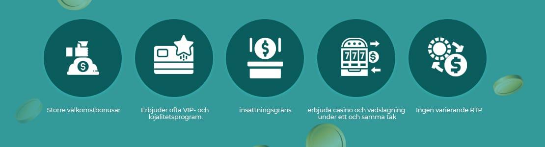 Stora fördelar att spela casino utan svensk licens